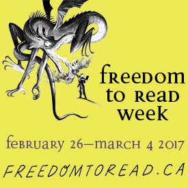 Freedom to Read Week in Canada begins on Sunday, February 26
