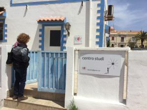 Mariella Bertelli outside the Centro Studi on Lampedusa, Italy. Photo courtesy of Mariella Bertelli.